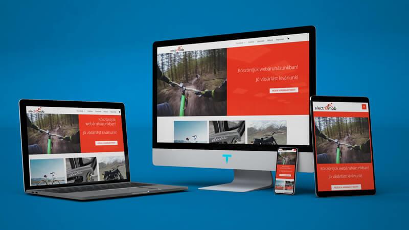 Elektromob.hu webáruház készítés Tomidesign
