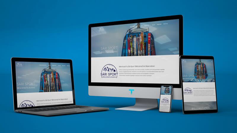 Sarisport.hu webáruházkészítés, honlapkészítés