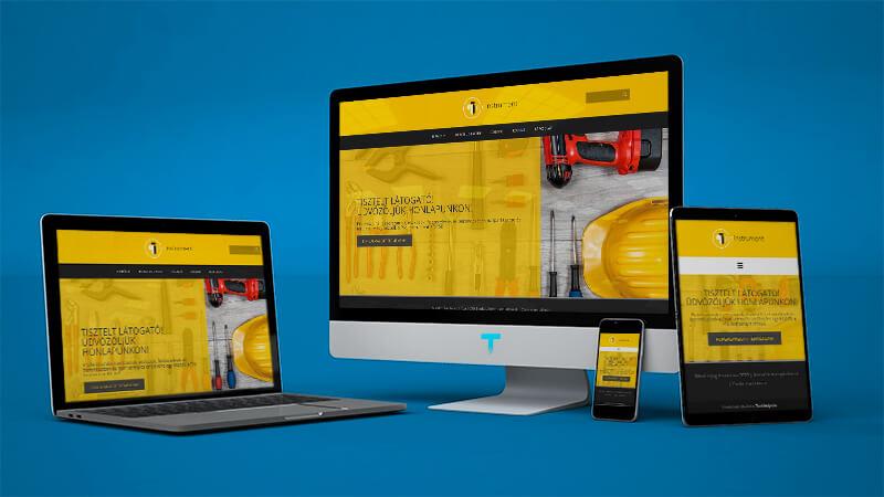 proinstrument.hu mockup weboldalkészítéshez